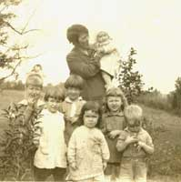 Nell with children